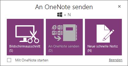 Senden an OneNote